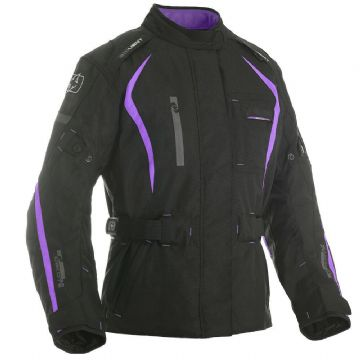 Oxford Dakota Women's Waterproof Textile Motorcycle Jacket Black & Purple